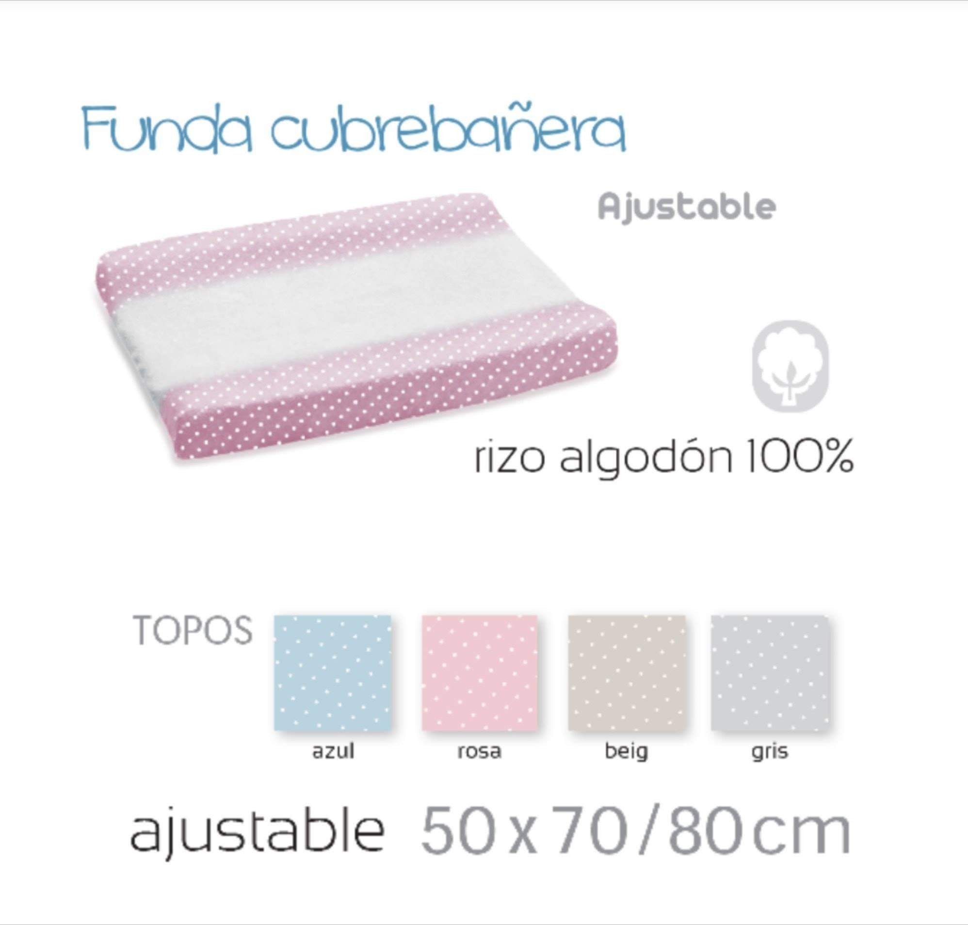 Funda cubrebañera Topitos